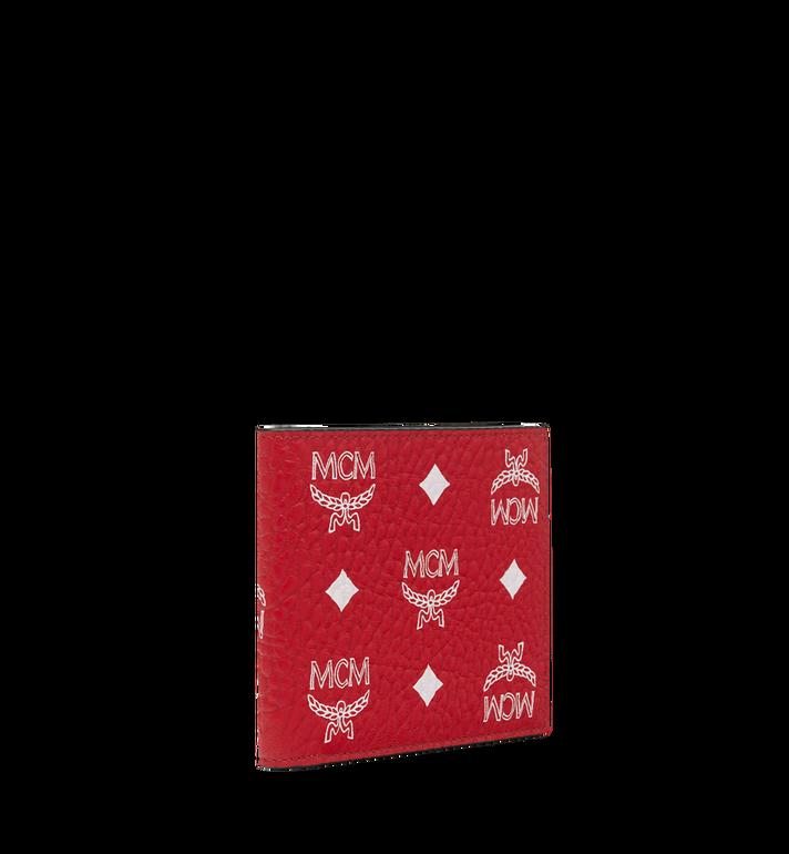MCM Gefaltete Brieftasche mit Visetos-Logo in Weiss Alternate View 2