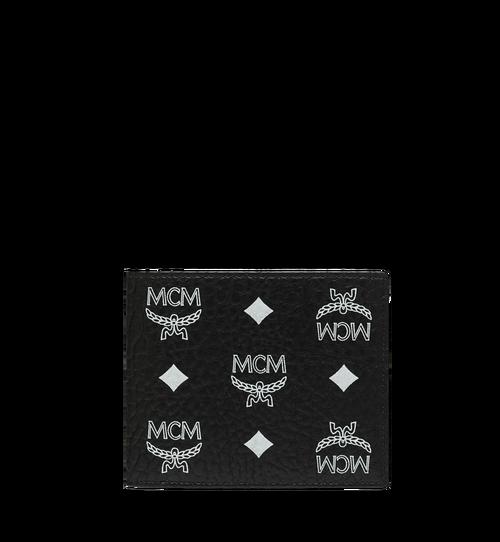 Portefeuille à deux volets en Visetos à logo blanc