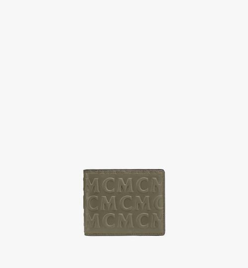 花押字圖案 MCM 皮革兩折式錢包