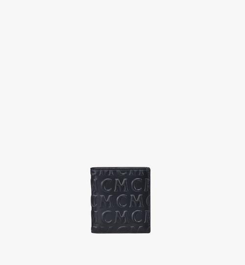 Porte-cartes à deux volets en cuir monogrammé MCM