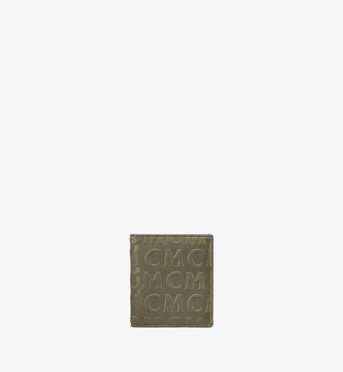 花押字圖案 MCM 皮革兩折式卡夾