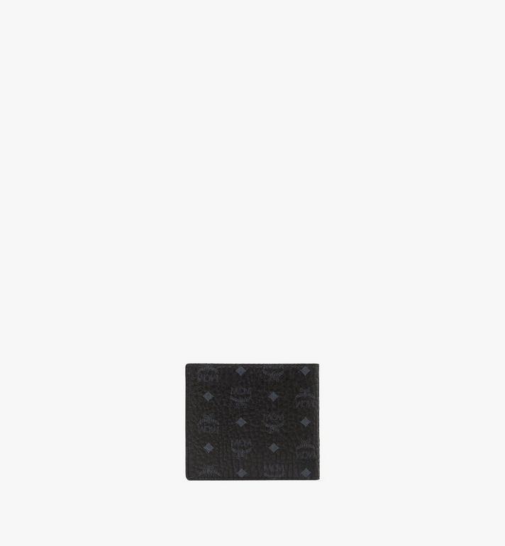 MCM Bifold Wallet w/ Coin Pocket in Visetos Original Black MXSAAVI01BK001 Alternate View 3