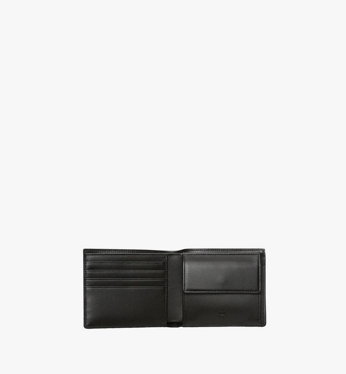 MCM Bifold Wallet w/ Coin Pocket in Visetos Original Black MXSAAVI01BK001 Alternate View 4
