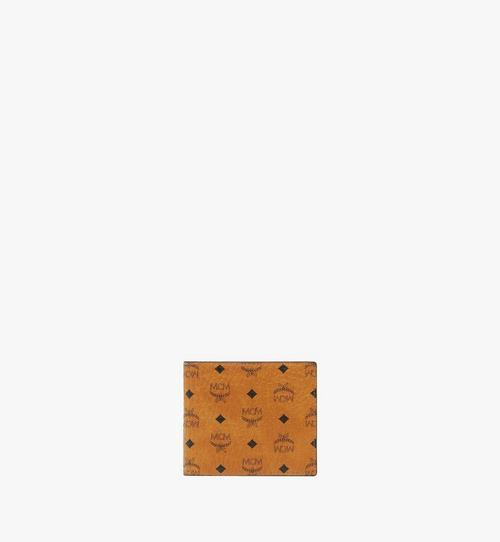 Portefeuille à deux volets avec poche zippée en Visetos Original