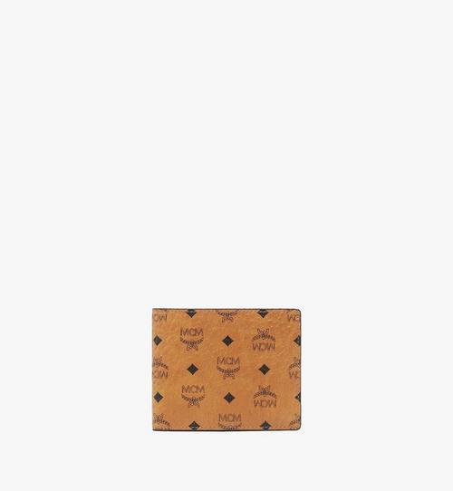 กระเป๋าสตางค์แบบพับสองทบพร้อมช่องใส่บัตรลาย Visetos Original