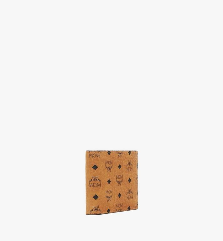 MCM Bifold Wallet with Card Case in Visetos Original Cognac MXSAAVI02CO001 Alternate View 2