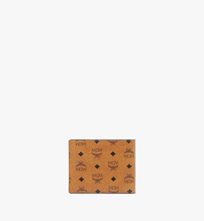 MCM Bifold Wallet with Card Case in Visetos Original Cognac MXSAAVI02CO001 Alternate View 3