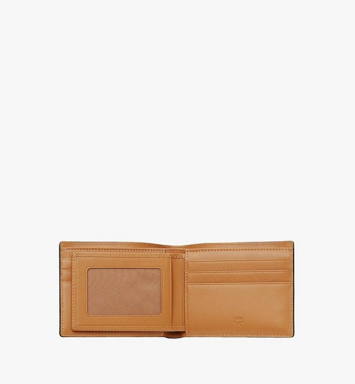 MCM Bifold Wallet with Card Case in Visetos Original Cognac MXSAAVI02CO001 Alternate View 4