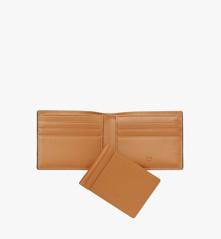 MCM Bifold Wallet with Card Case in Visetos Original Cognac MXSAAVI02CO001 Alternate View 5