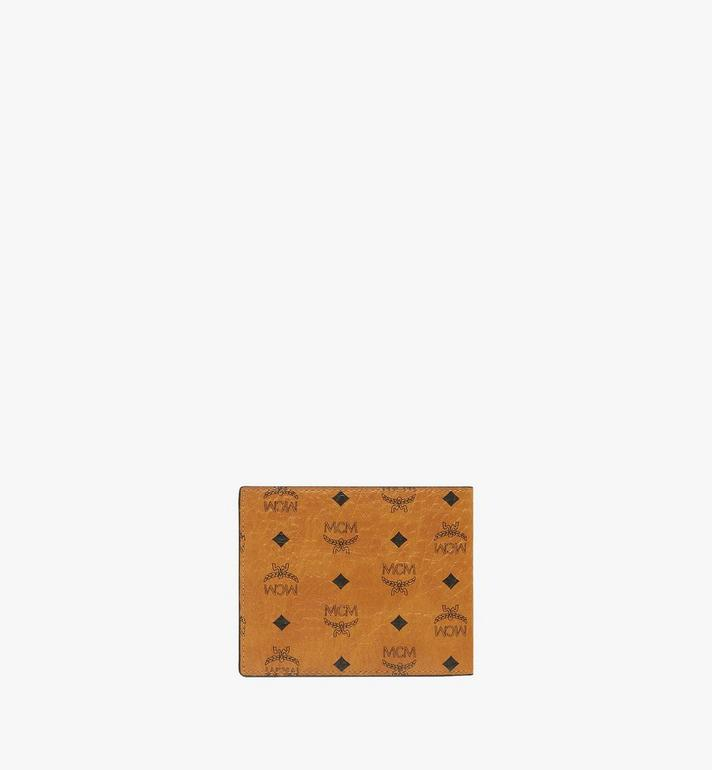 MCM Bifold Wallet in Visetos Original Cognac MXSAAVI04CO001 Alternate View 3