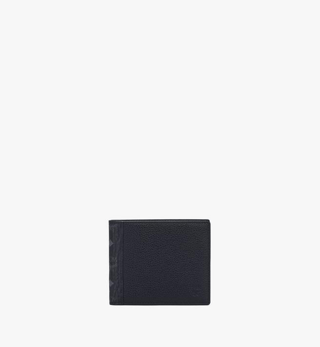 MCM Portefeuille à deux volets en bloc de cuir Visetos Alternate View