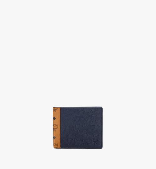 Portefeuille à deux volets en bloc de cuir Visetos