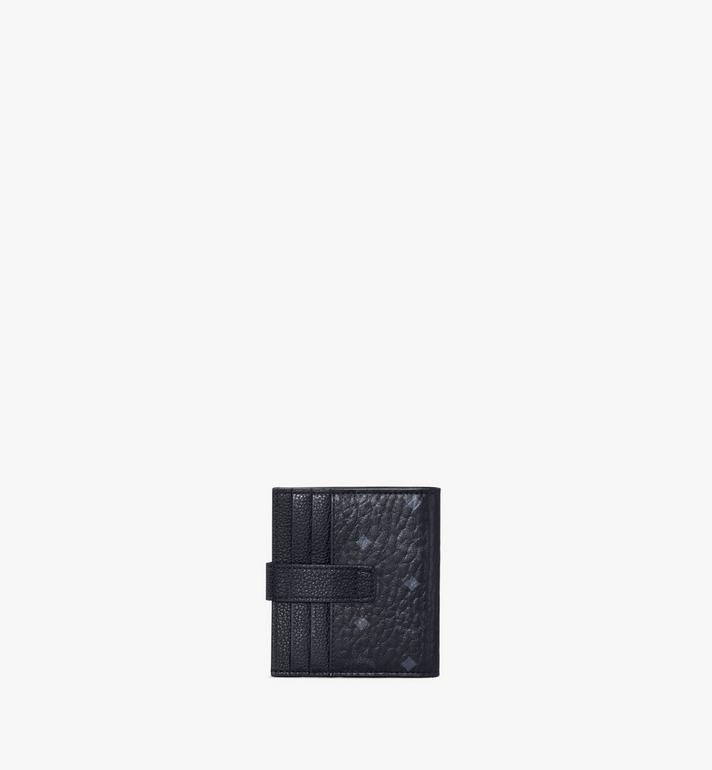 MCM Porte-cartes à deux volets en Visetos colorblock Navy MXSAAVI08BK001 Alternate View 3