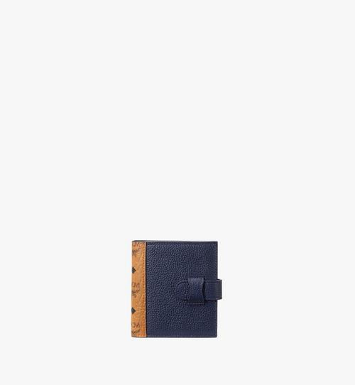 กระเป๋าสตางค์ใส่บัตรแบบพับสองทบลาย Visetos สีคัลเลอร์บล็อก