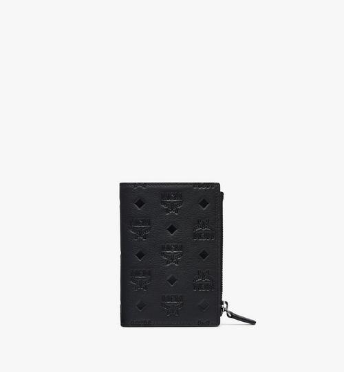 Porte-cartes à deux volets Klara en cuir monogrammé