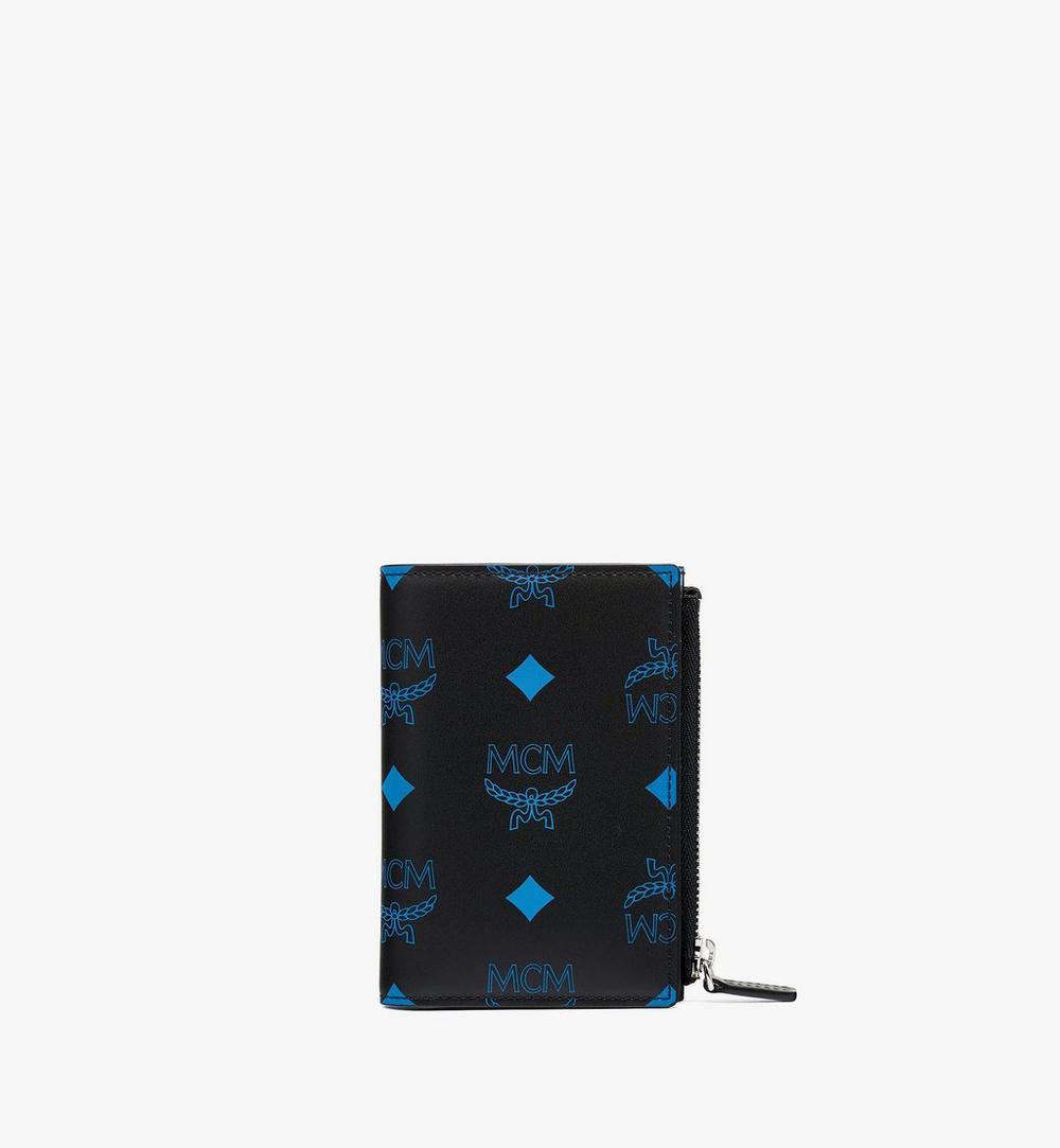潑彩品牌標誌皮革對開卡夾錢包 1