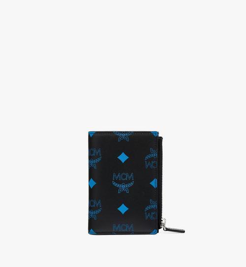 Gefaltete Brieftasche aus Leder mit Kartenfächern und Color-Splash-Logo