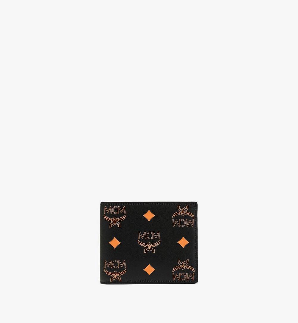 潑彩品牌標誌皮革對開錢包 1