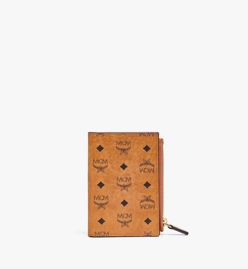 กระเป๋าสตางค์ใส่บัตรติดซิปพับสองทบลาย Visetos Original