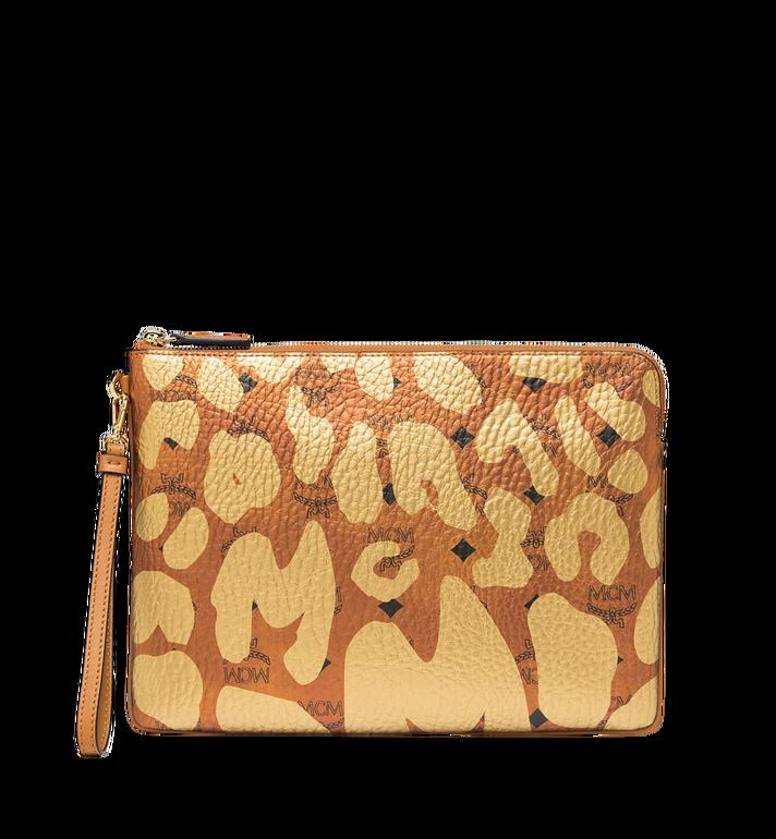MCM Tasche mit Handgelenksband und Reissverschluss in MCM Leopard Print Alternate View