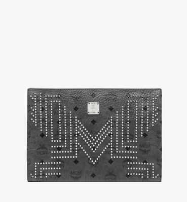 Zip Pouch in Gunta M Studs Visetos