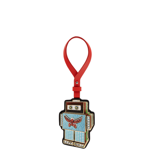 Robot Charm in Leather