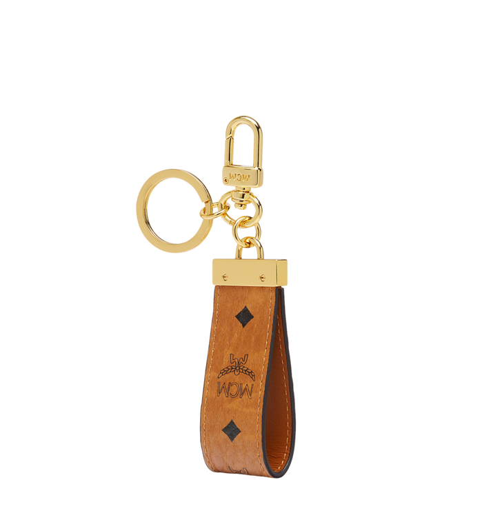 MCM Key Ring in Visetos Original Cognac MXZ8SVI60CO001 Alternate View 2