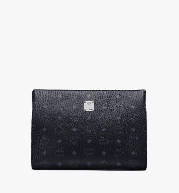 MCM Zip Pouch in Visetos Original Black MXZ8SVI70BK001 Alternate View 1