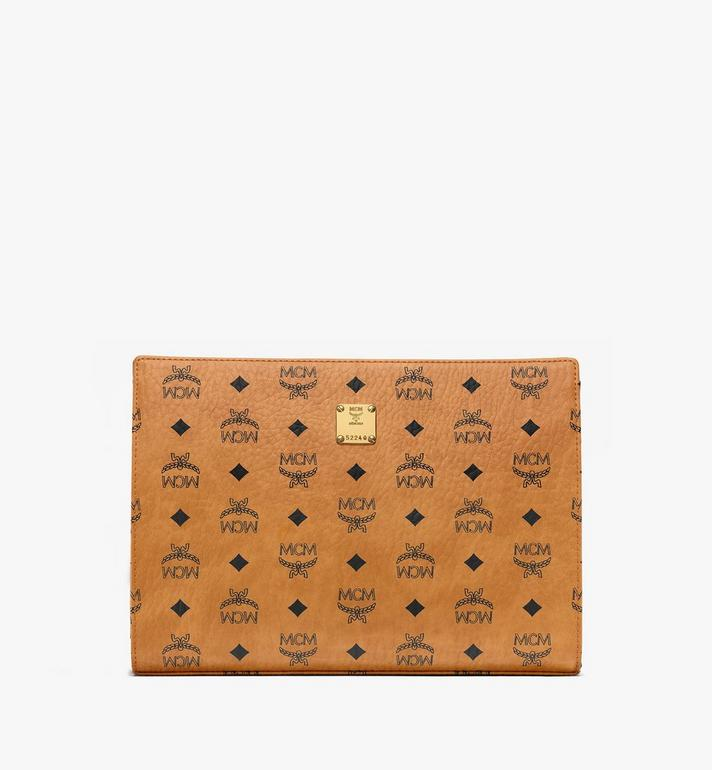 MCM Zip Pouch in Visetos Original Alternate View