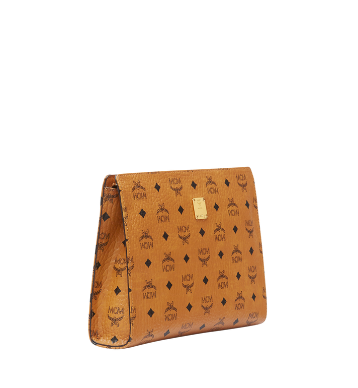 MCM Zip Pouch in Visetos Original Cognac MXZ8SVI70CO001 Alternate View 2