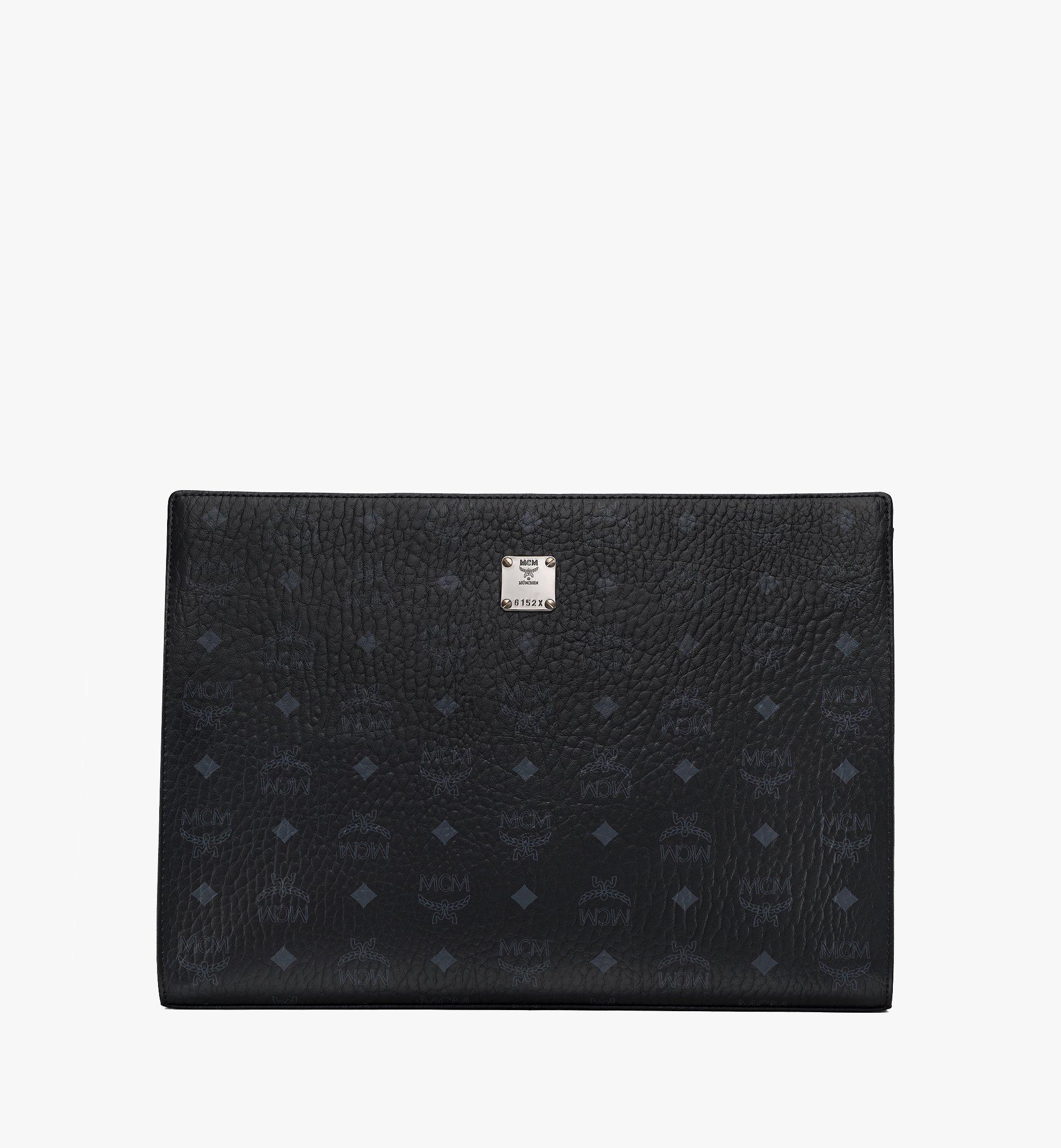 MCM Tasche mit Reissverschluss in Visetos Original Black MXZ8SVI71BK001 Alternate View 1