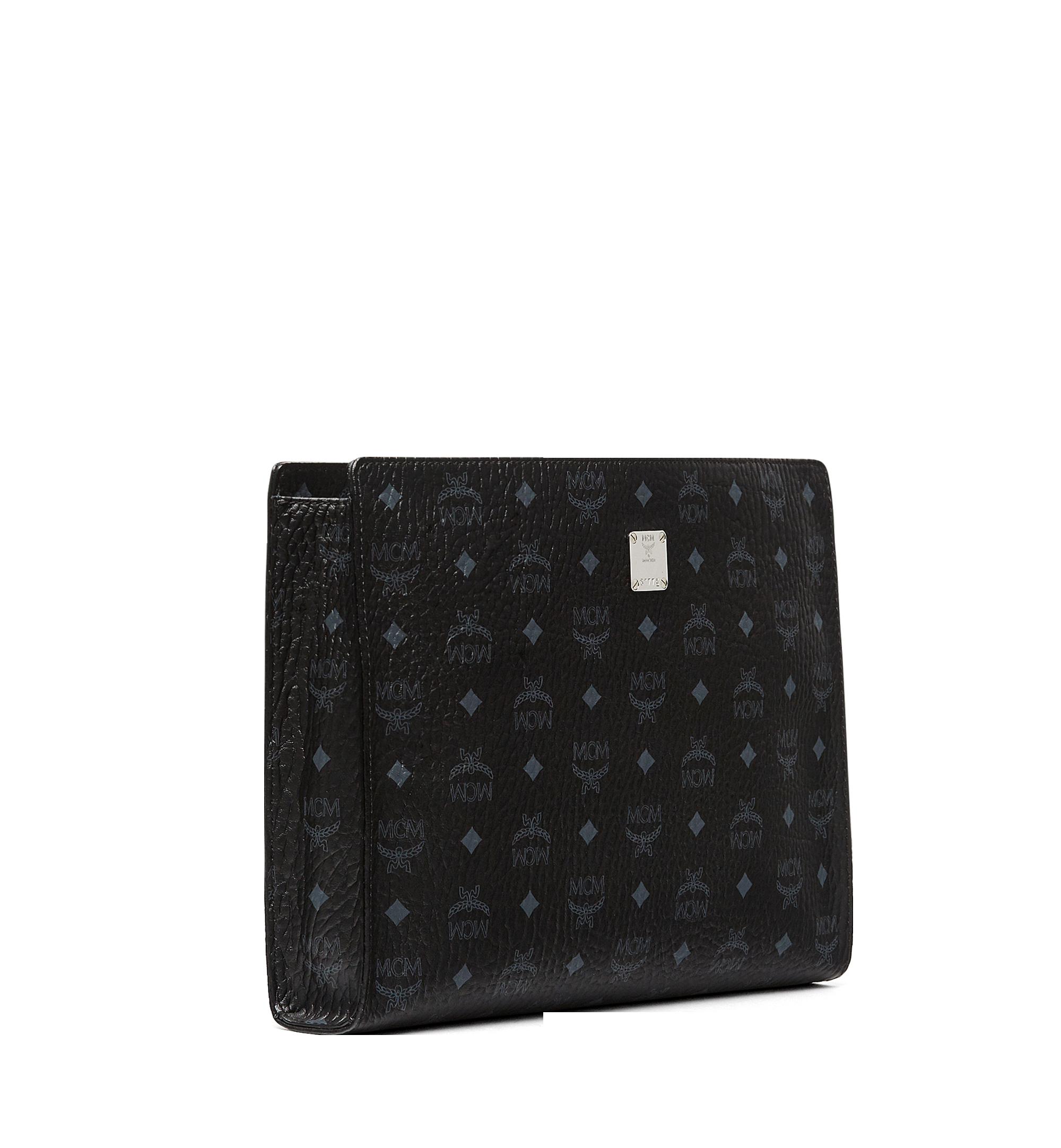 MCM Tasche mit Reissverschluss in Visetos Original Black MXZ8SVI71BK001 Alternate View 2