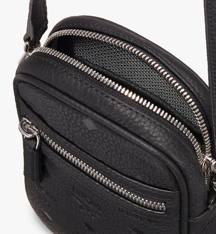 MCM Tivitat Crossbody Bag in Monogram Leather Black MXZ9ABT27BK001 Alternate View 4