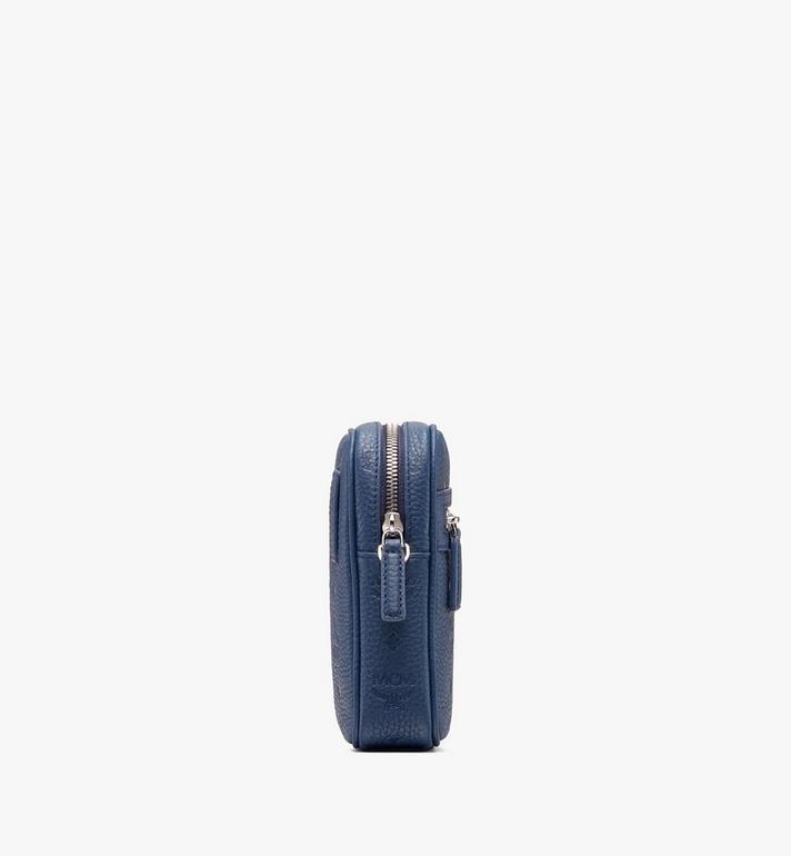 MCM Tivitat Crossbody Bag in Monogram Leather Blue MXZ9ABT27VA001 Alternate View 2