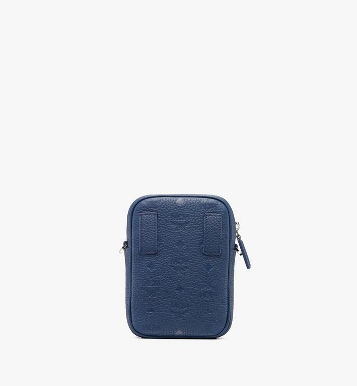 MCM Tivitat Crossbody Bag in Monogram Leather Blue MXZ9ABT27VA001 Alternate View 3
