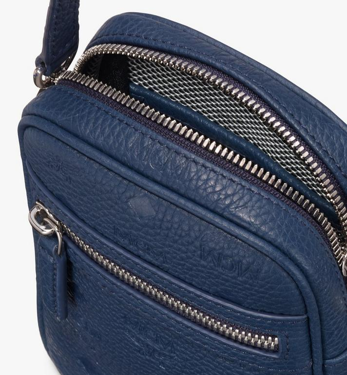 MCM Tivitat Crossbody Bag in Monogram Leather Blue MXZ9ABT27VA001 Alternate View 4