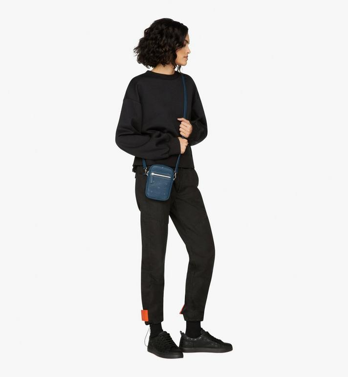 MCM Tivitat Crossbody Bag in Monogram Leather Blue MXZ9ABT27VA001 Alternate View 5