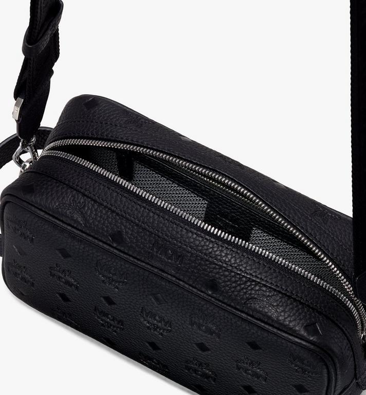MCM Tivitat Wash Bag in Monogram Leather Black MXZ9ABT28BK001 Alternate View 4