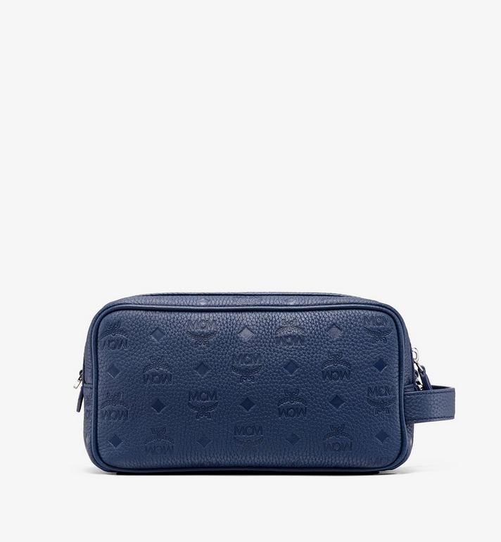 MCM Tivitat 皮革化妝包 Navy MXZ9ABT28VA001 Alternate View 3