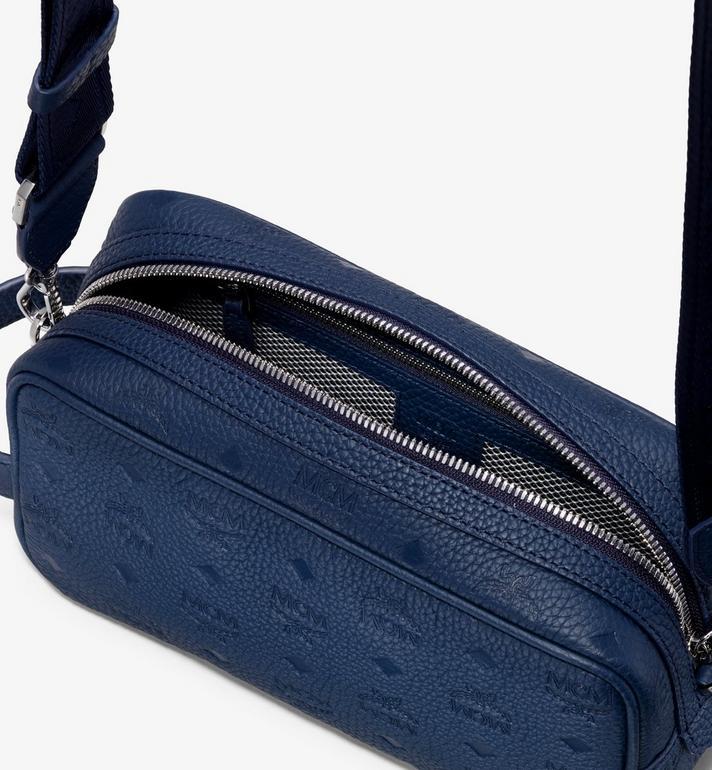 MCM Tivitat Wash Bag in Monogram Leather Navy MXZ9ABT28VA001 Alternate View 4