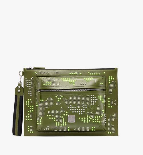 Zip Pouch in Studded Lion Camo