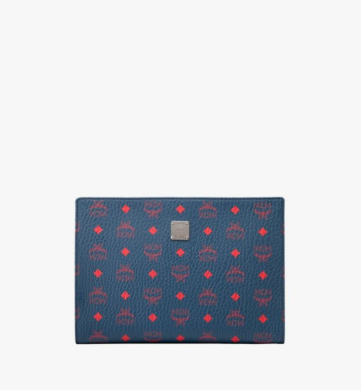 MCM Zip Pouch in Visetos Alternate View