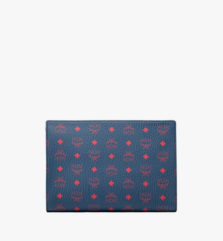 MCM Zip Pouch in Visetos Blue MXZ9AVI32VS001 Alternate View 2