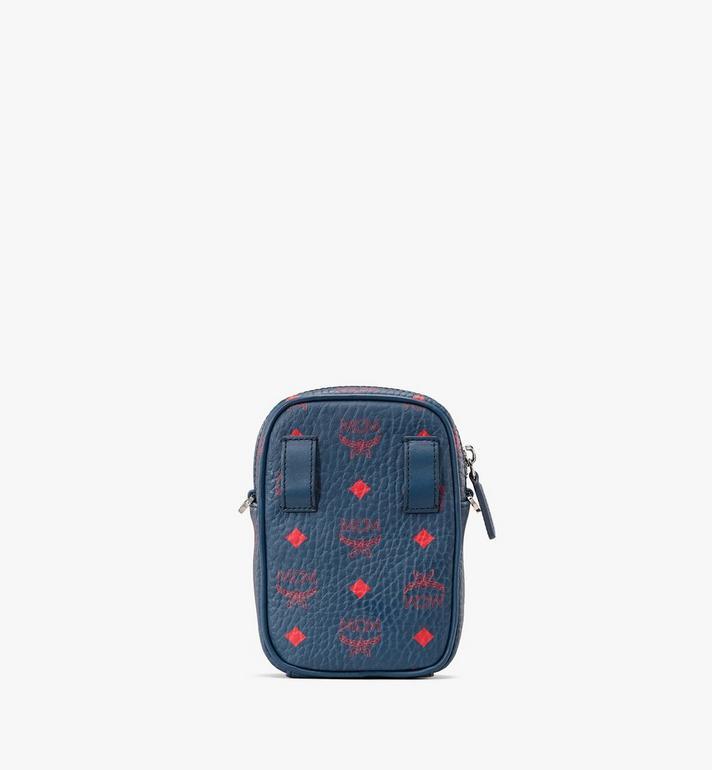 MCM Crossbody Bag in Visetos Blue MXZ9AVI56VS001 Alternate View 3