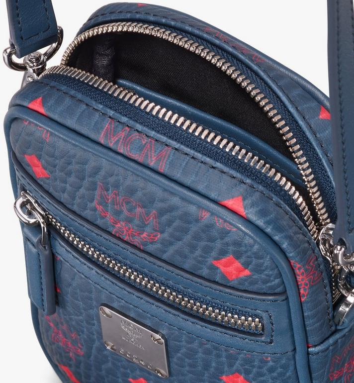 MCM Crossbody Bag in Visetos Blue MXZ9AVI56VS001 Alternate View 4
