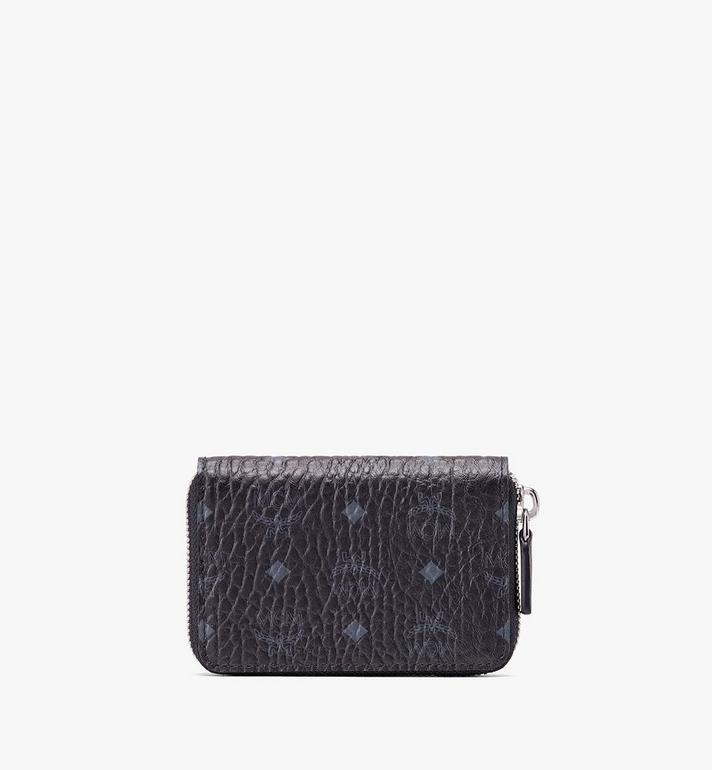 MCM Zip Wallet in Visetos Black MXZ9AVI57BK001 Alternate View 2