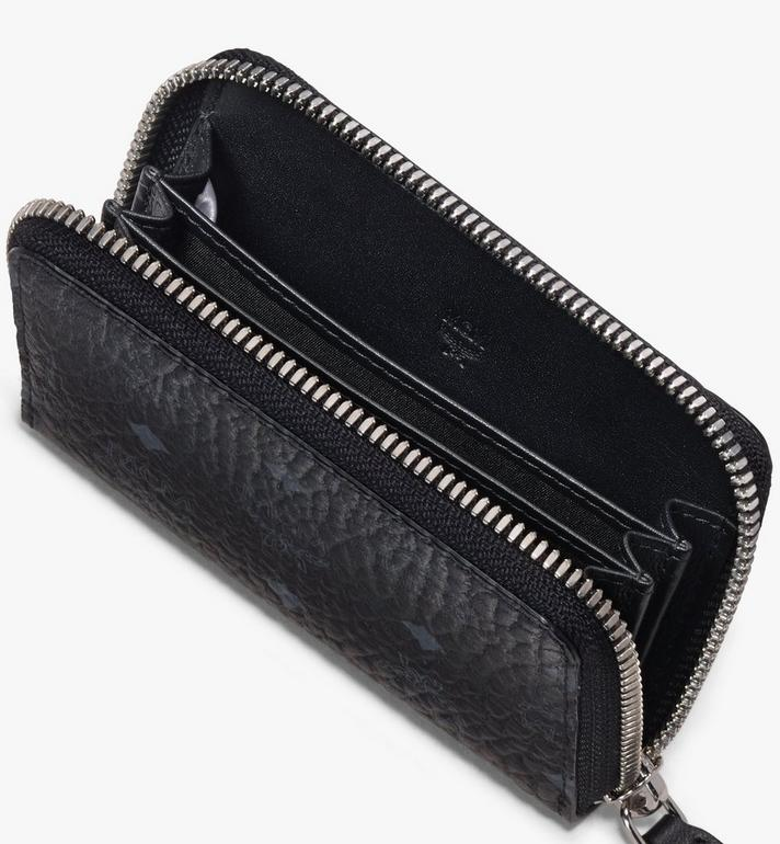 MCM Zip Wallet in Visetos Black MXZ9AVI57BK001 Alternate View 3