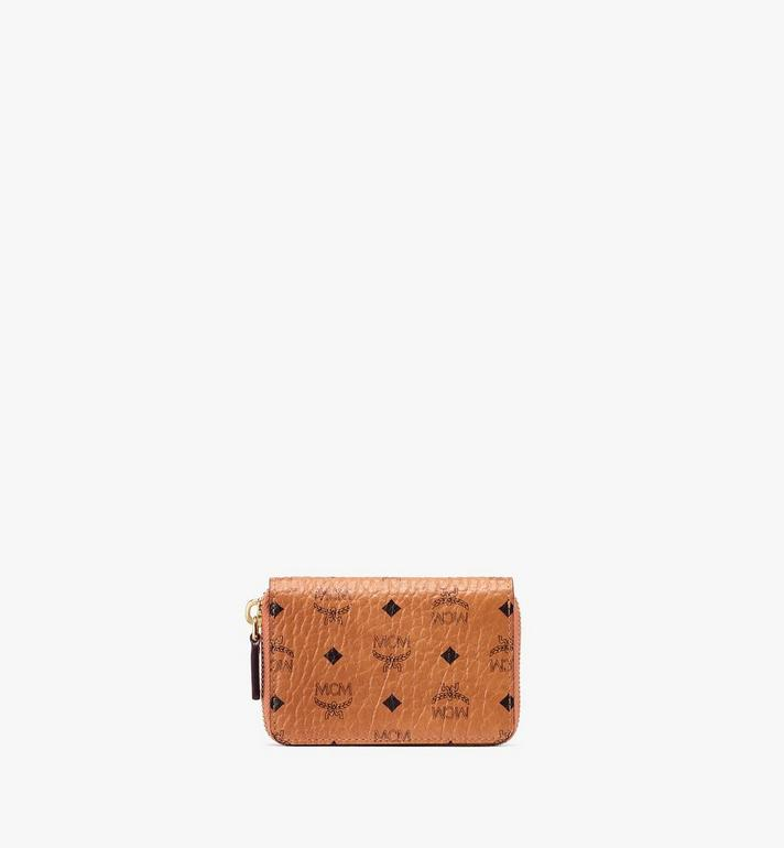 MCM Zip Wallet in Visetos Alternate View