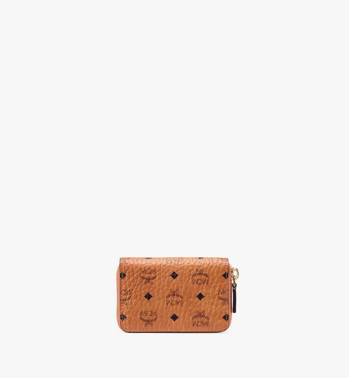 MCM Zip Wallet in Visetos Cognac MXZ9AVI57CO001 Alternate View 2