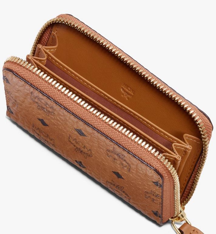 MCM Brieftasche mit Reissverschluss in Visetos  MXZ9AVI57CO001 Alternate View 3